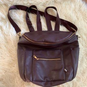 Fawn Design Maroon Diaper Bag Backpack Shoulder